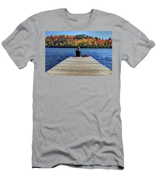 View Of Heaven Mic Mac Lake Tettegouche State Park Minnesota Men's T-Shirt (Athletic Fit)