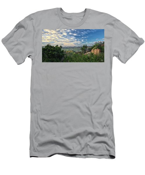 View Of Simi Valley Men's T-Shirt (Slim Fit) by Endre Balogh