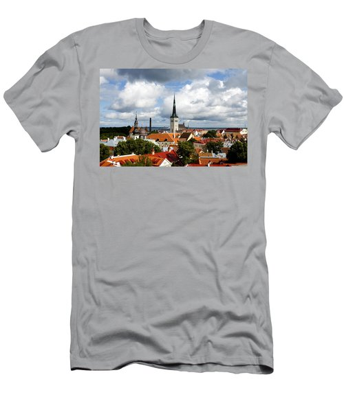 View Of St Olav's Church Men's T-Shirt (Athletic Fit)