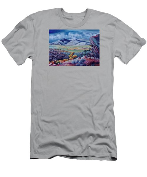 Men's T-Shirt (Slim Fit) featuring the painting View South From Cedar Breaks by Dawn Senior-Trask