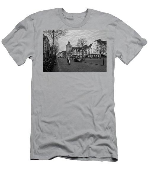View To The Bosch Street In Maastricht Men's T-Shirt (Slim Fit) by Nop Briex