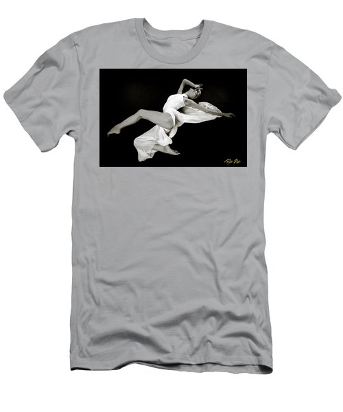 Men's T-Shirt (Athletic Fit) featuring the photograph Viktory On Black by Rikk Flohr