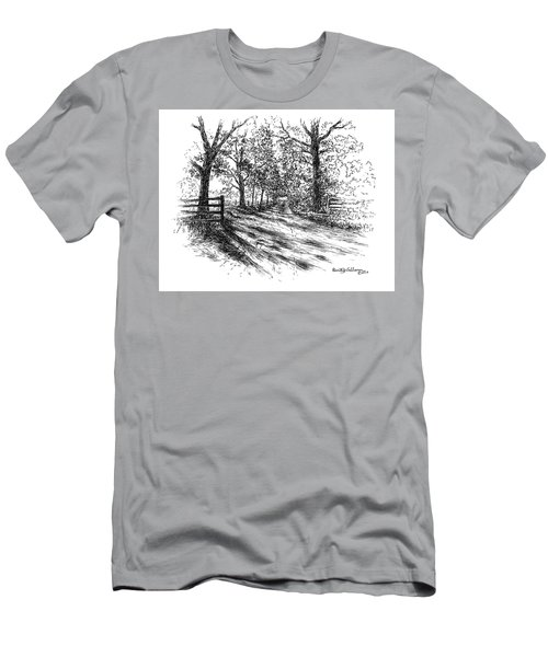Villa Road At Sunset Men's T-Shirt (Athletic Fit)