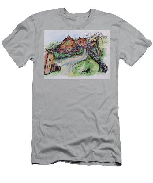 Village Back Street Men's T-Shirt (Athletic Fit)