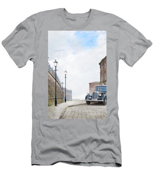 Vintage Car Parked On The Street Men's T-Shirt (Slim Fit) by Lee Avison