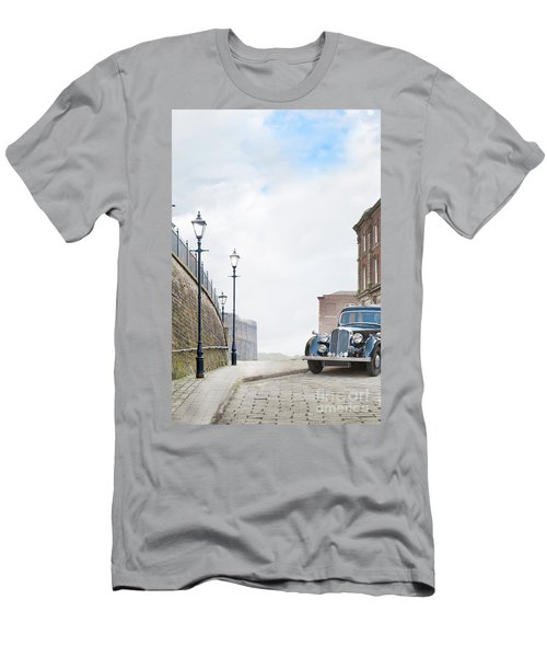 Vintage Car Parked On The Street Men's T-Shirt (Athletic Fit)