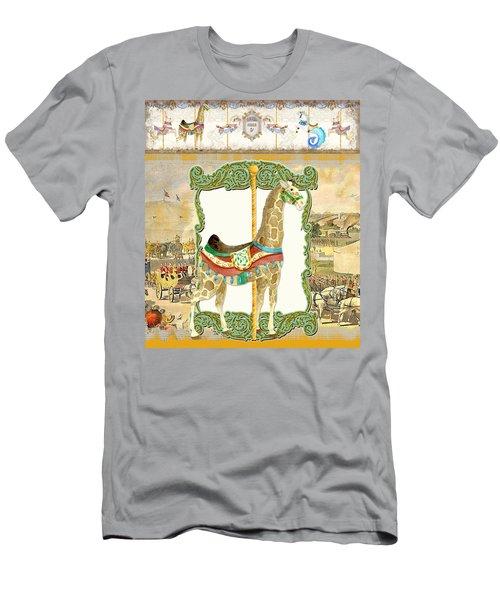 Vintage Circus Carousel - Giraffe Men's T-Shirt (Athletic Fit)
