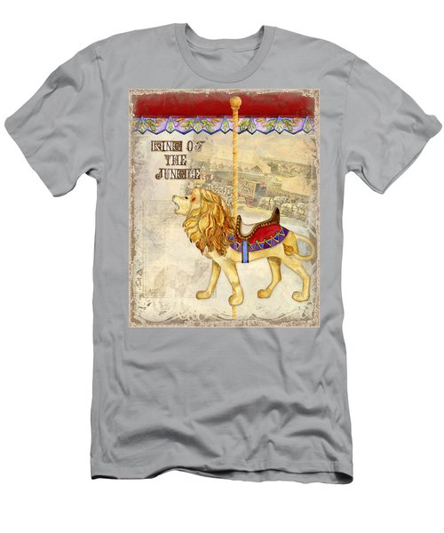 Vintage Circus Carousel - Roaring Lion Men's T-Shirt (Athletic Fit)