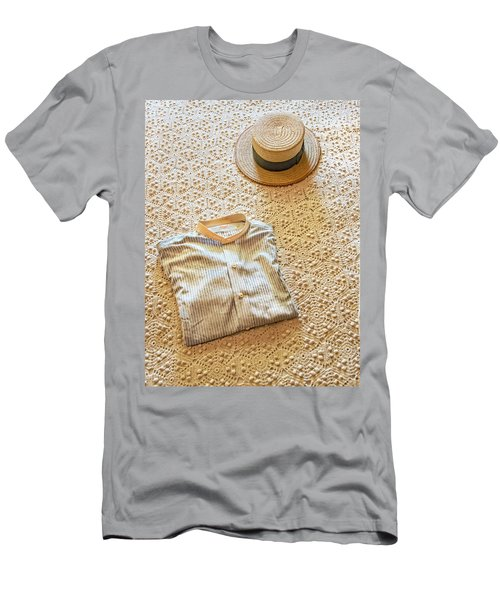 Men's T-Shirt (Athletic Fit) featuring the photograph Vintage Golfer's Hat And Shirt by Gary Slawsky