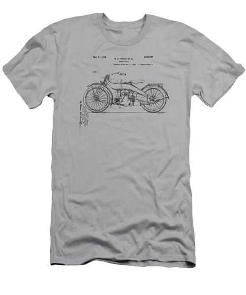 Vintage Harley-davidson Motorcycle 1924 Patent Artwork Men's T-Shirt (Slim Fit) by Nikki Smith