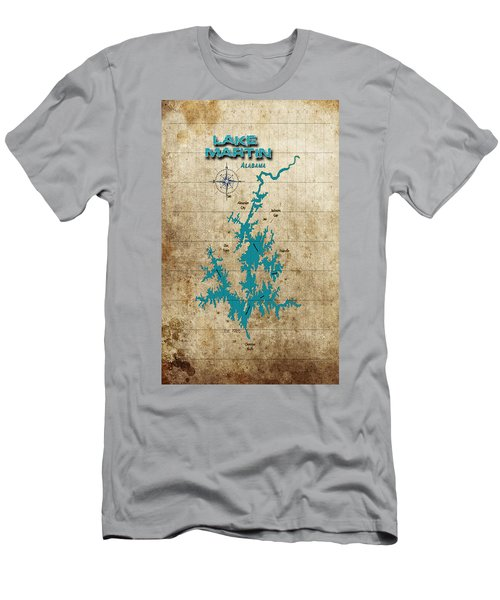 Vintage Map - Lake Martin Al Men's T-Shirt (Slim Fit) by Greg Sharpe