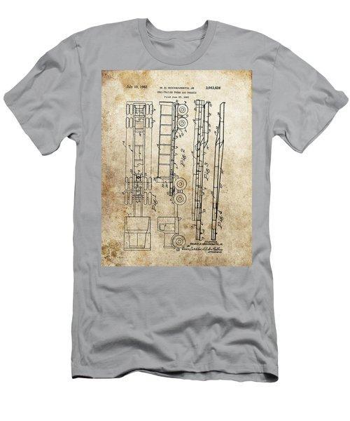 Vintage Semi Trailer Truck Patent Men's T-Shirt (Athletic Fit)