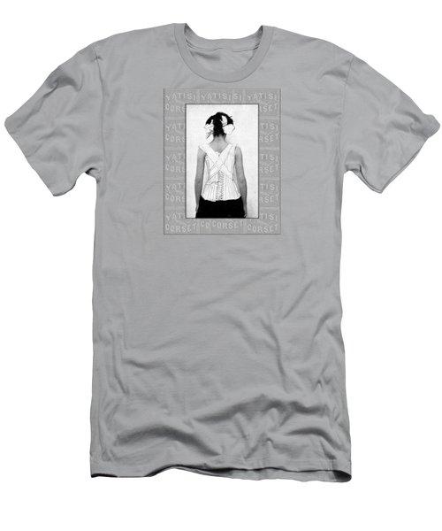 Vintage Woman In Corset Duotone Men's T-Shirt (Athletic Fit)