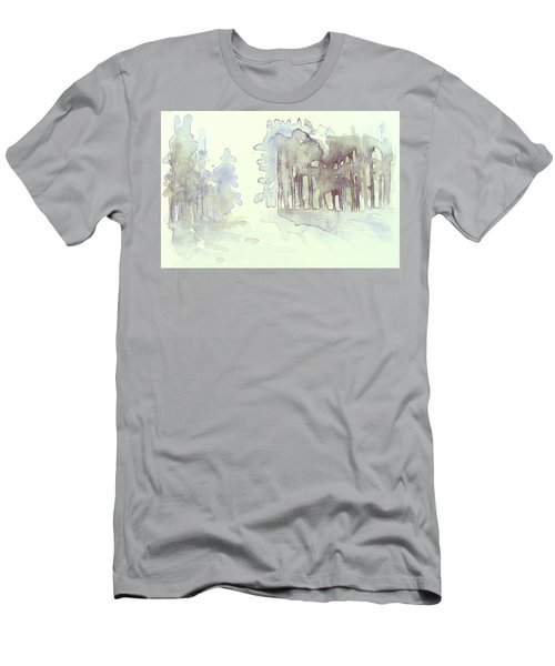 Vintrig Skogsglanta, A Wintry Glade In The Woods 2,83 Mb_0047 Up To 60 X 40 Cm Men's T-Shirt (Athletic Fit)