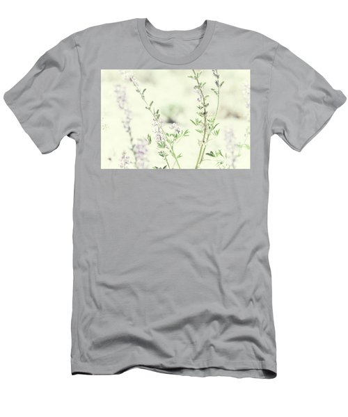 Violet And Green Bloom Men's T-Shirt (Athletic Fit)