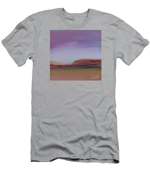 Men's T-Shirt (Athletic Fit) featuring the painting Violet Skies by Michelle Abrams