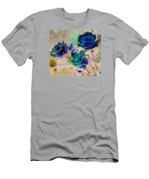 Violets Are Red- Roses Are Blue Men's T-Shirt (Athletic Fit)