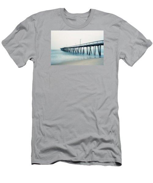 Virginia Beach Fishing Pier Men's T-Shirt (Slim Fit) by Scott Meyer