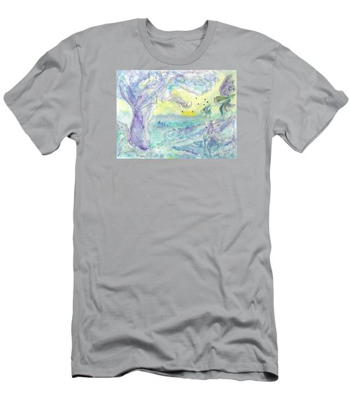 Visitors Men's T-Shirt (Slim Fit) by Veronica Rickard