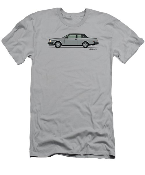 Volvo 262c Bertone Brick Coupe 200 Series Silver Men's T-Shirt (Athletic Fit)