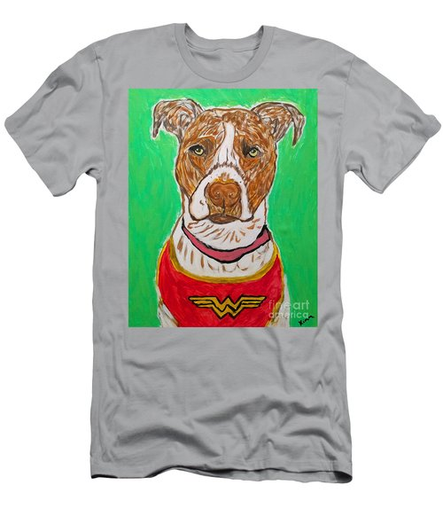 Men's T-Shirt (Slim Fit) featuring the painting W Boy by Ania M Milo