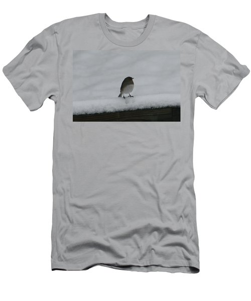 Men's T-Shirt (Slim Fit) featuring the digital art Waiting For Spring by Barbara S Nickerson