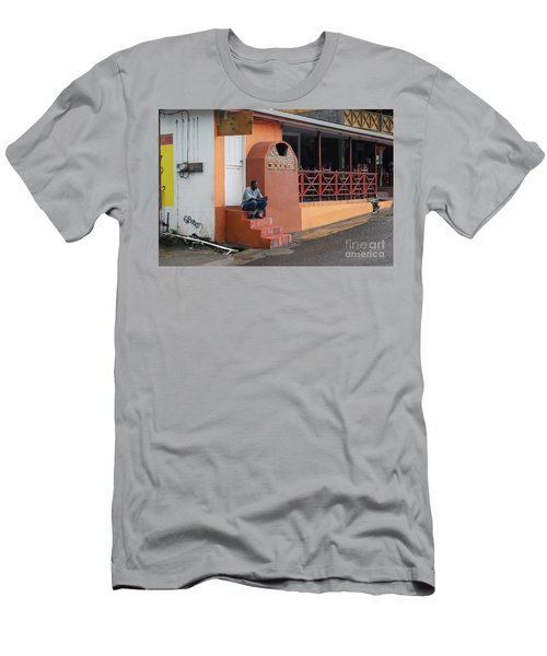 Men's T-Shirt (Athletic Fit) featuring the photograph Waiting by Gary Wonning