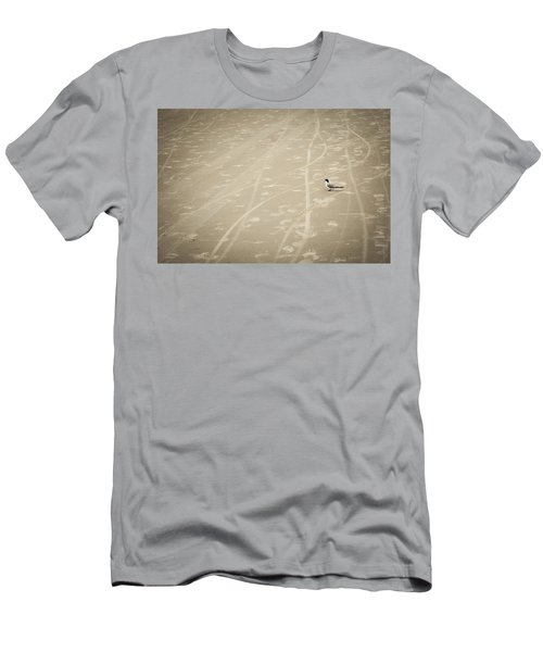 Men's T-Shirt (Slim Fit) featuring the photograph Waiting My Turn by Carolyn Marshall
