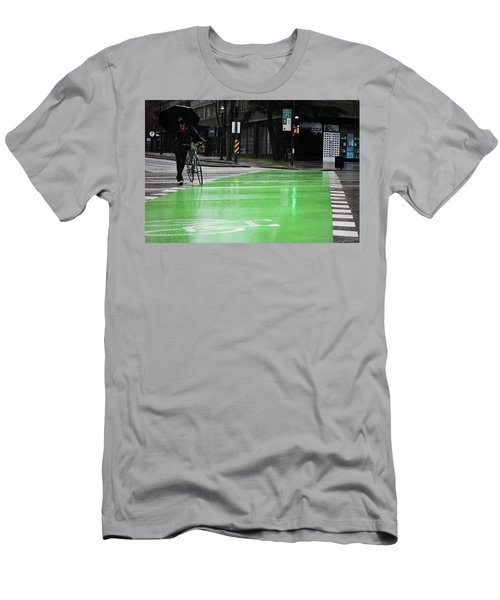 Men's T-Shirt (Slim Fit) featuring the photograph Walk With Wheels  by Empty Wall