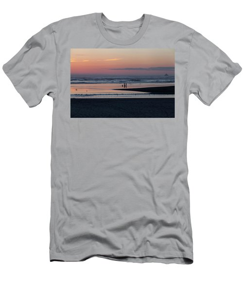 Walking Dogs On The Beach Men's T-Shirt (Athletic Fit)