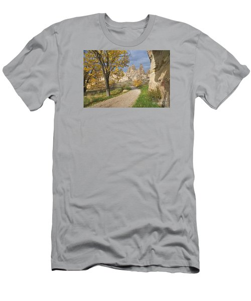 Men's T-Shirt (Slim Fit) featuring the photograph Walking The Cappadocia by Yuri Santin