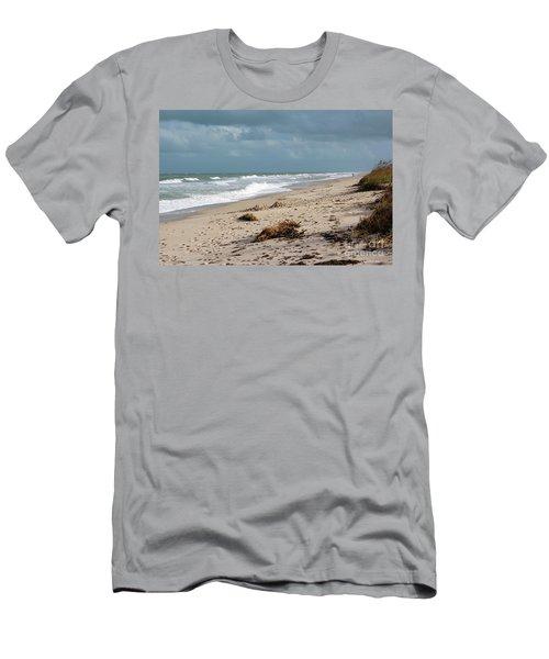 Walks On The Beach Men's T-Shirt (Slim Fit) by Megan Dirsa-DuBois