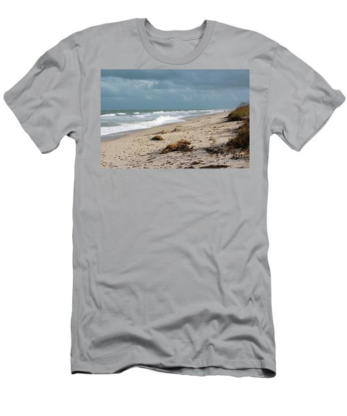 Walks On The Beach Men's T-Shirt (Athletic Fit)