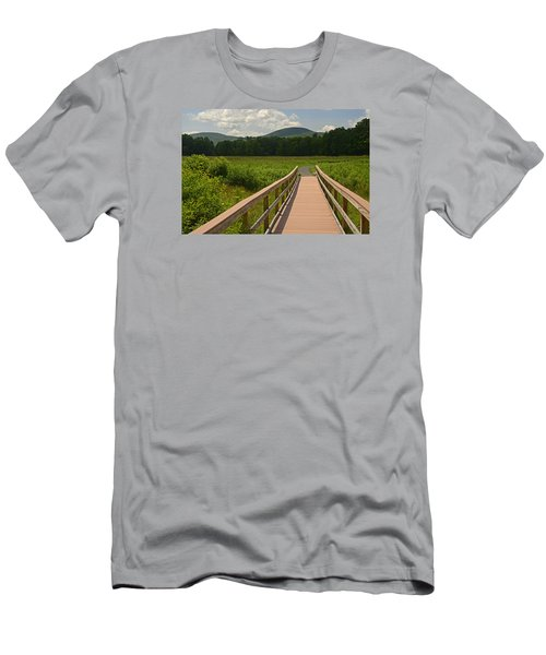 Walkway To A Mountain Color Men's T-Shirt (Slim Fit) by Nancy De Flon