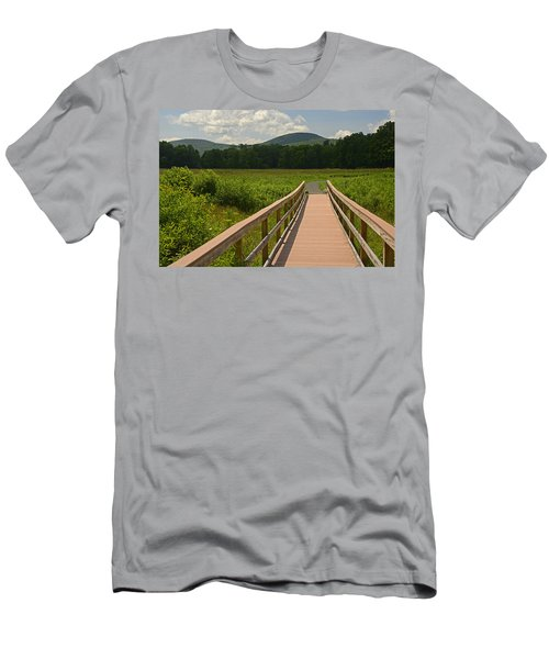 Walkway To A Mountain Color Men's T-Shirt (Athletic Fit)