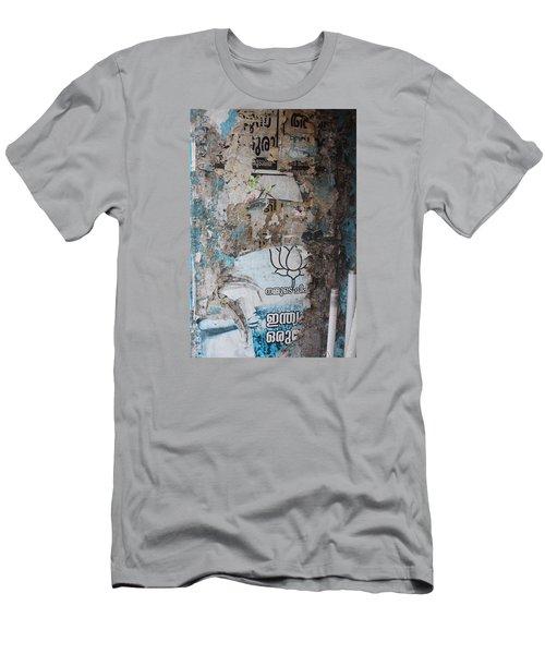 Wall In Kochi Men's T-Shirt (Slim Fit) by Jennifer Mazzucco