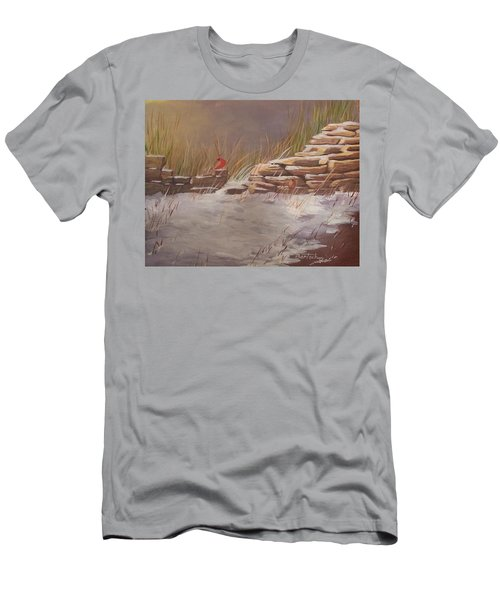 Wall In Winter Men's T-Shirt (Athletic Fit)