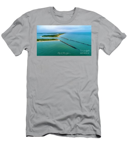 Waquiot Bay Breakwater Men's T-Shirt (Athletic Fit)