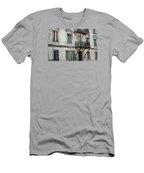 Abandoned War Torn Building In Bregenz Austria Men's T-Shirt (Athletic Fit)