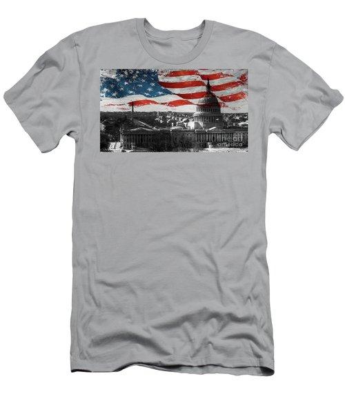Washington Dc 56t Men's T-Shirt (Slim Fit) by Gull G