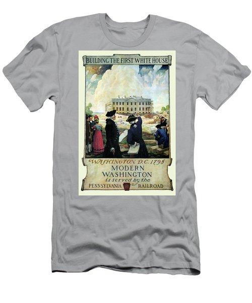 Washington D C Vintage Travel 1932 Men's T-Shirt (Slim Fit) by Daniel Hagerman