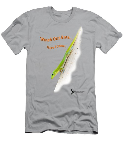 Watch Out Ants...here I Come Men's T-Shirt (Slim Fit) by Windy Corduroy