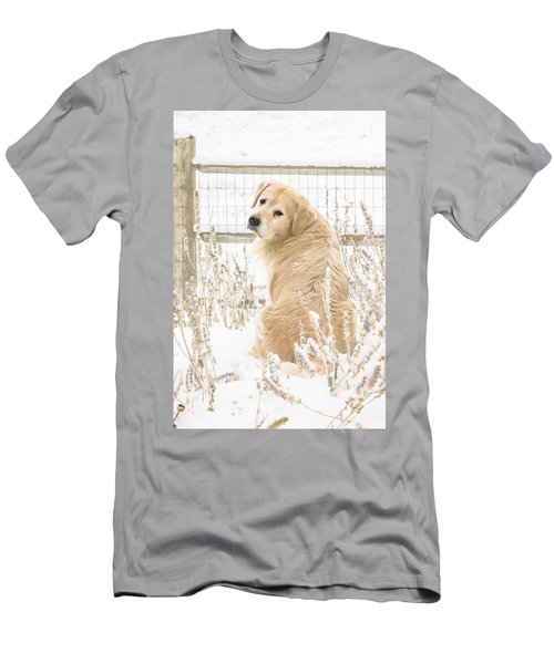 Watching It Snow Men's T-Shirt (Athletic Fit)