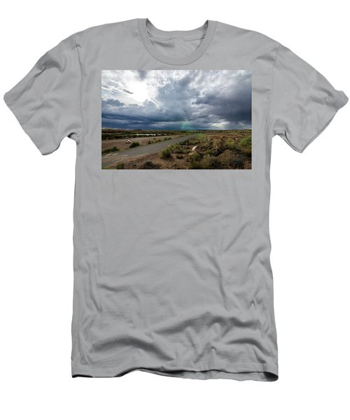 Watching The Storms Roll By Men's T-Shirt (Athletic Fit)
