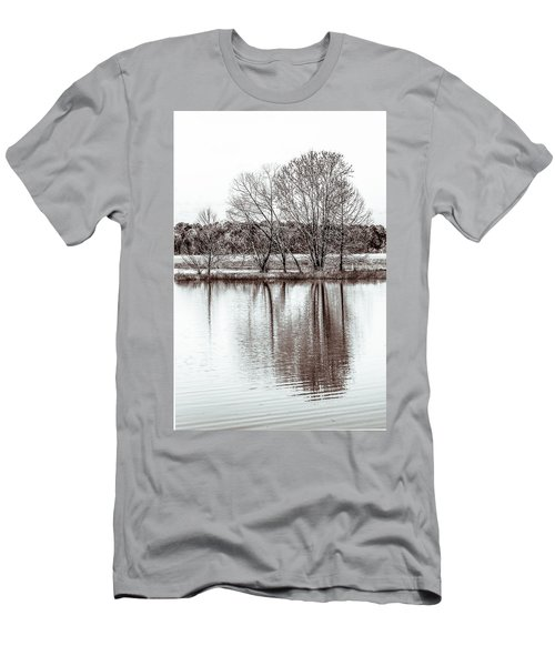Men's T-Shirt (Slim Fit) featuring the photograph Water And Trees by Wade Brooks