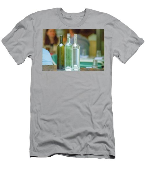 Water Bottles At New York Brasserie No 2 Men's T-Shirt (Athletic Fit)