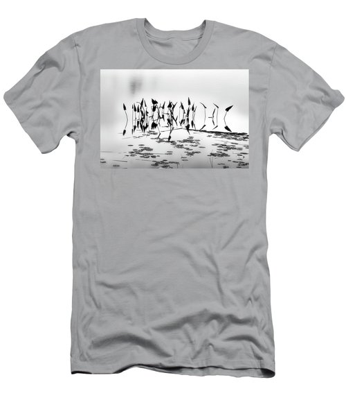 Water Lilies Men's T-Shirt (Slim Fit) by Catherine Alfidi