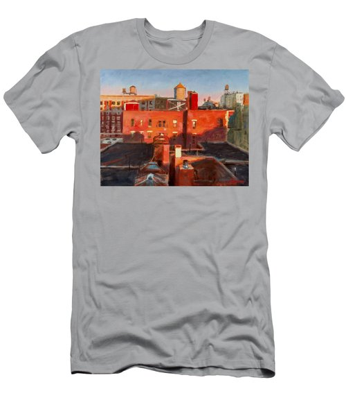 Water Towers At Sunset No. 3 Men's T-Shirt (Athletic Fit)