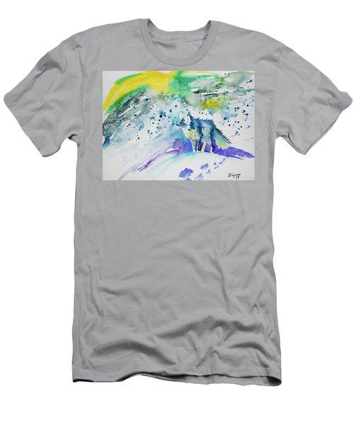 Watercolor - Arctic Fox Men's T-Shirt (Athletic Fit)