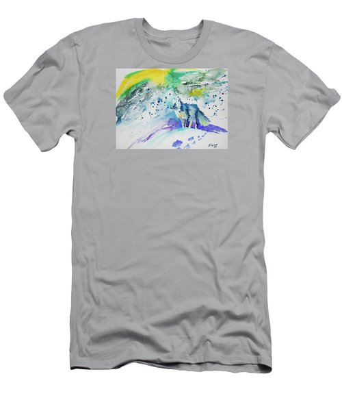 Watercolor - Arctic Fox Men's T-Shirt (Athletic Fit)